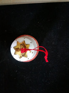 Bell Ornament with gold