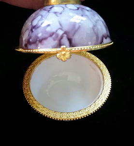 Round Box Ornaments with hinged clasp