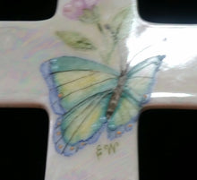 Load image into Gallery viewer, Hand Painted 6 Inch Porcelain Cross