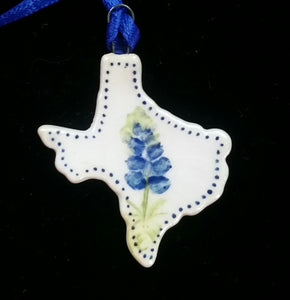Miniature Texas Shaped Ornament
