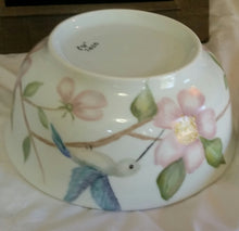 Load image into Gallery viewer, Hummingbirds And Wild Roses Serving Bowl