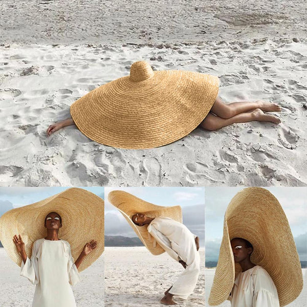 Large summer beach hat