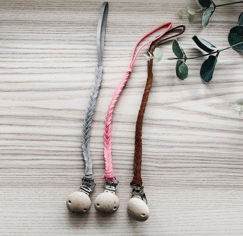 Leather Pacifier Clip