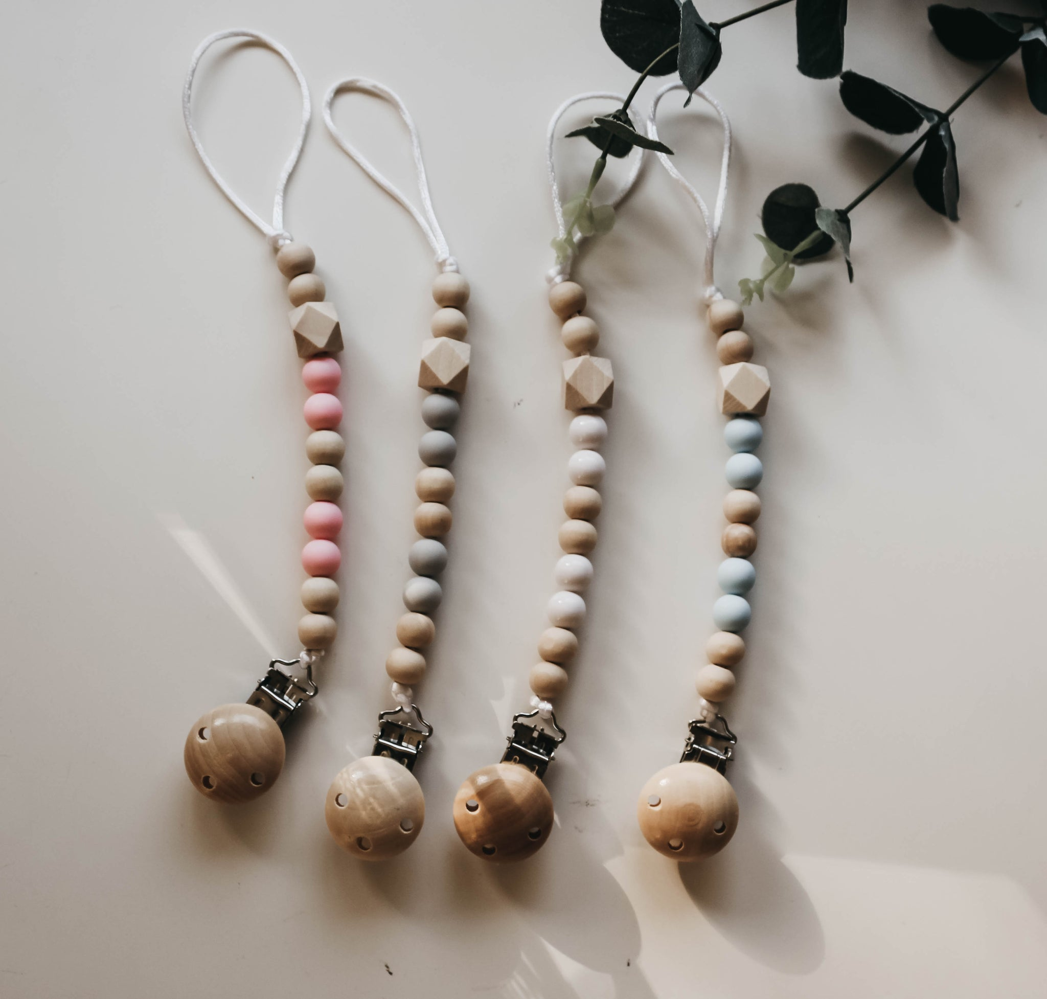 Wooden Pacifier Clips