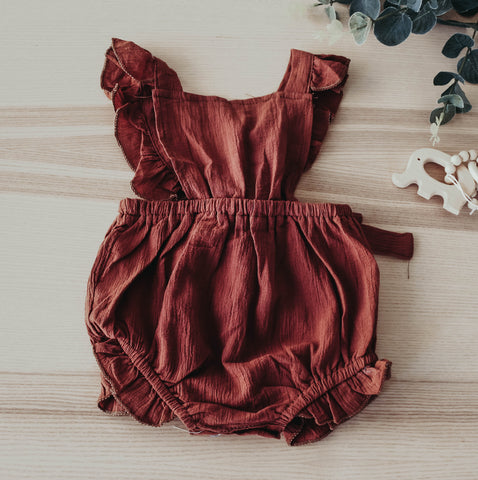 The brown angel romper