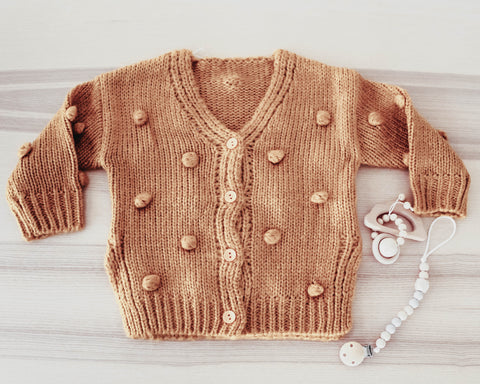 The Mustard Yellow Pom Pom Cardigan