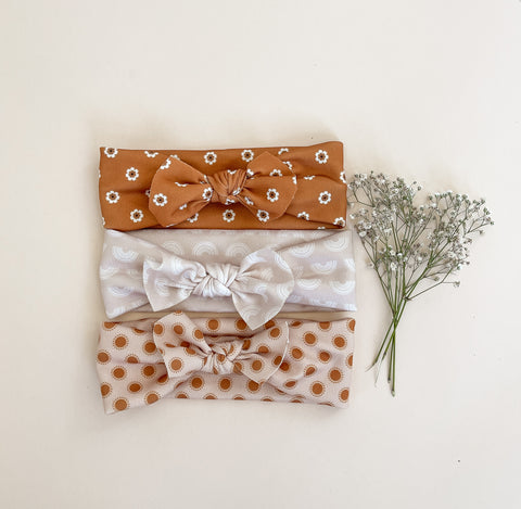 Neutral Pattern Headbands