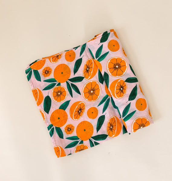 Bamboo Swaddle – Citrus Orange