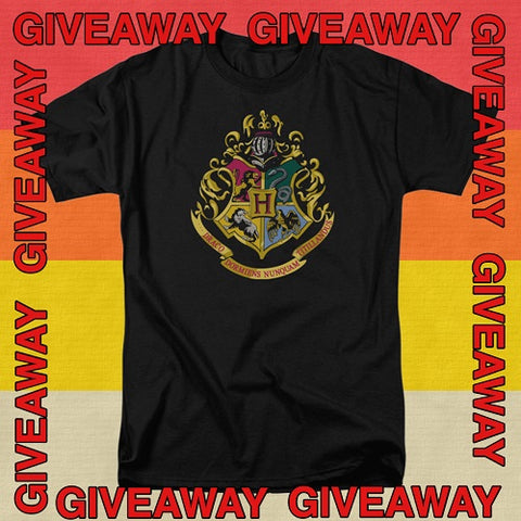 Harry Potter Hogwarts Crest Tee Giveaway on Instagram!  Win this shirt!