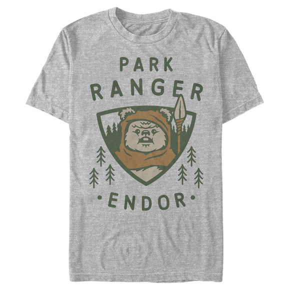 Men's Star Wars Park Ranger Endor Ewok Badge Tee