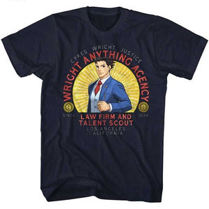 MEN'S ACE ATTORNEY WRIGHT ANYTHING LIGHTWEIGHT TEE - Blue Culture Tees