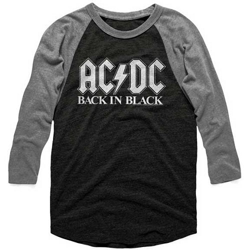 MEN'S ACDC BACK TO BLACK 2 RAGLAN TEE - Blue Culture Tees
