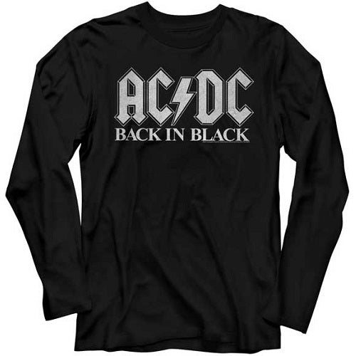 MEN'S ACDC BACK IN BLACK 2 LONG SLEEVE TEE - Blue Culture Tees