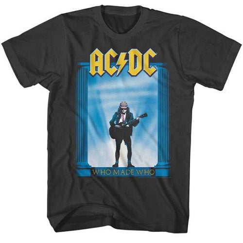 MEN'S ACDC WHO MADE WHO ALBUM LIGHTWEIGHT TEE - Blue Culture Tees