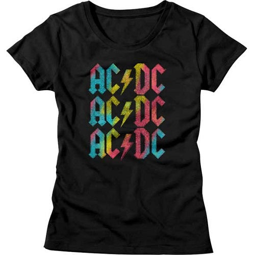 WOMEN'S ACDC MULTICOLOR TEE