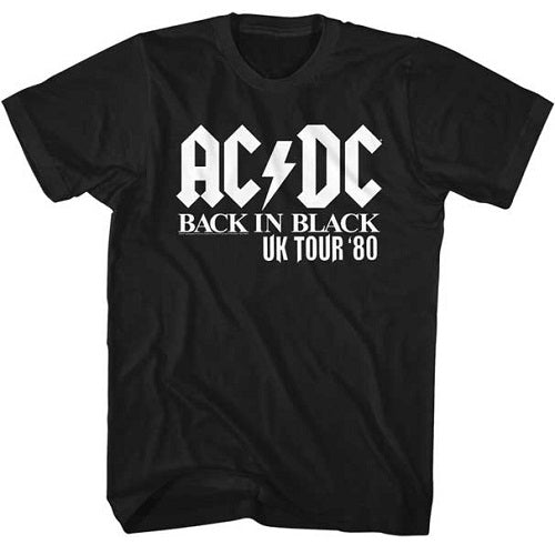 MEN'S ACDC UK TOUR SOLID WHITE LIGHTWEIGHT TEE