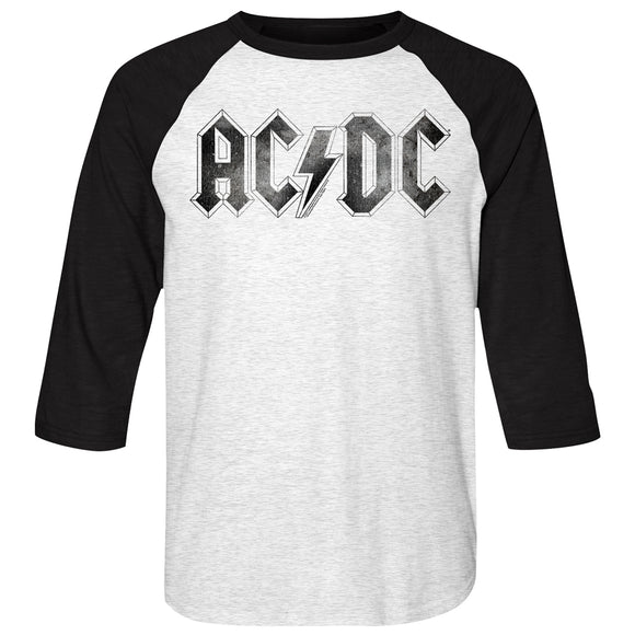 Men's ACDC Logo Distress Raglan Tee