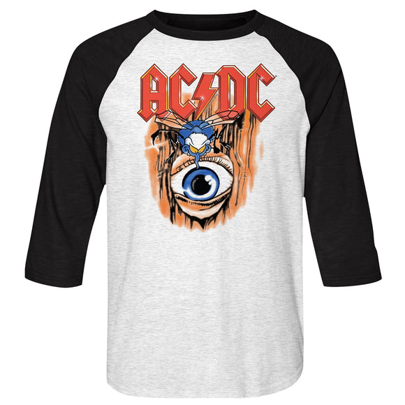 MEN'S ACDC VINTAGE FLY ON WALL RAGLAN TEE