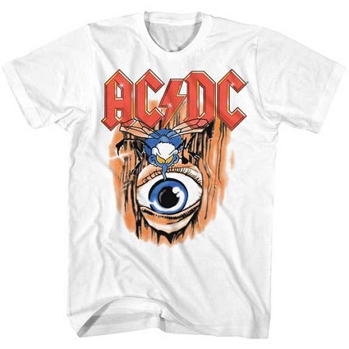 MEN'S ACDC VINTAGE FLY ON WALL LIGHTWEIGHT TEE - Blue Culture Tees