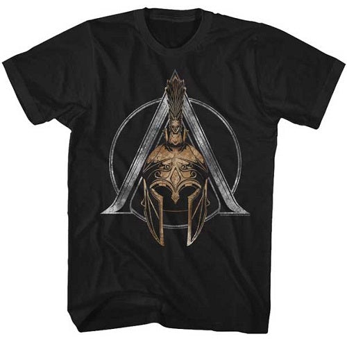 MEN'S ASSASSINS CREED HELMET SYMBOL TEE - Blue Culture Tees