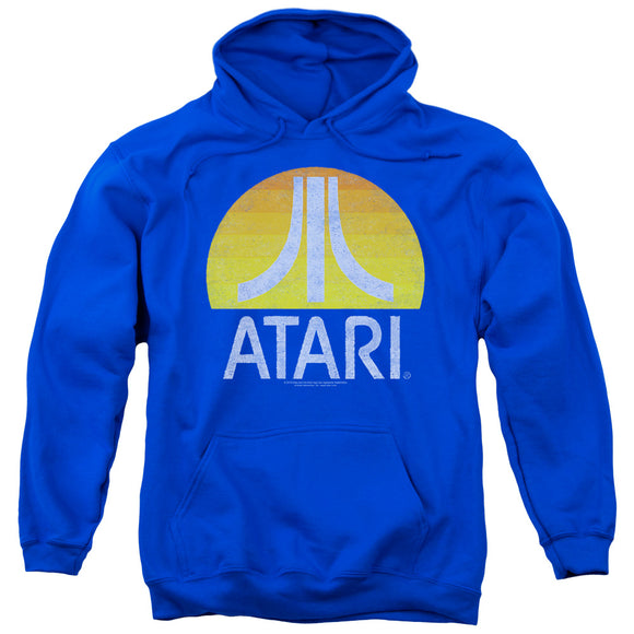 MEN'S ATARI SUNRISE ERODED PULLOVER HOODIE - Blue Culture Tees