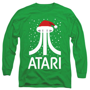 Men's Atari Pixel Santa Hat Long Sleeve T-Shirt