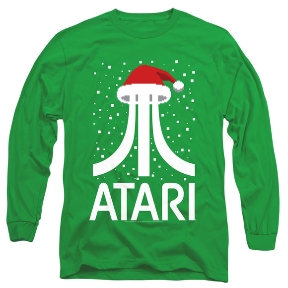 MEN'S ATARI PIXEL SANTA HAT LONG SLEEVE TEE