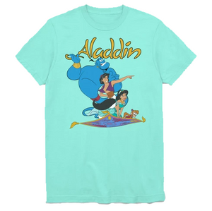 MEN'S DISNEY ALADDIN FLYING BUDDIES TEE - Blue Culture Tees