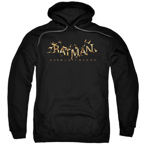 MEN'S BATMAN ARKHAM KNIGHT FLAME LOGO PULLOVER HOODIE