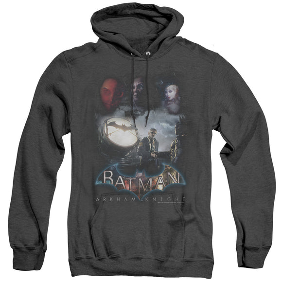 MEN'S BATMAN ARKHAM KNIGHT VILLAIN STORM HEATHER PULLOVER HOODIE