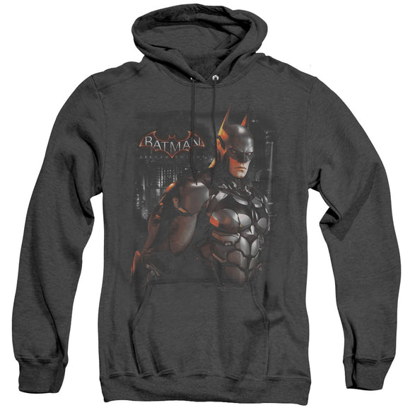 Men's Batman Arkham Knight Dark Knight Heather Pullover Hoodie