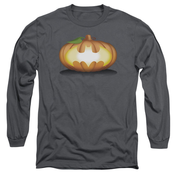 MEN'S BATMAN BAT PUMPKIN LOGO LONG SLEEVE TEE