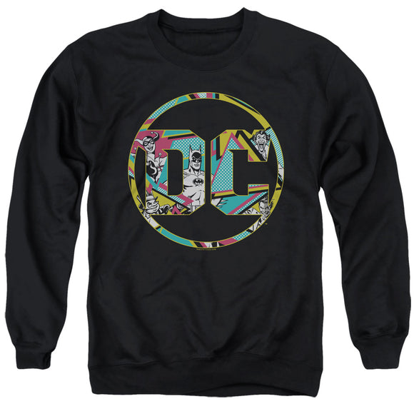 MEN'S DC COMICS BATMAN 80S BAT LOGO CREWNECK SWEATSHIRT