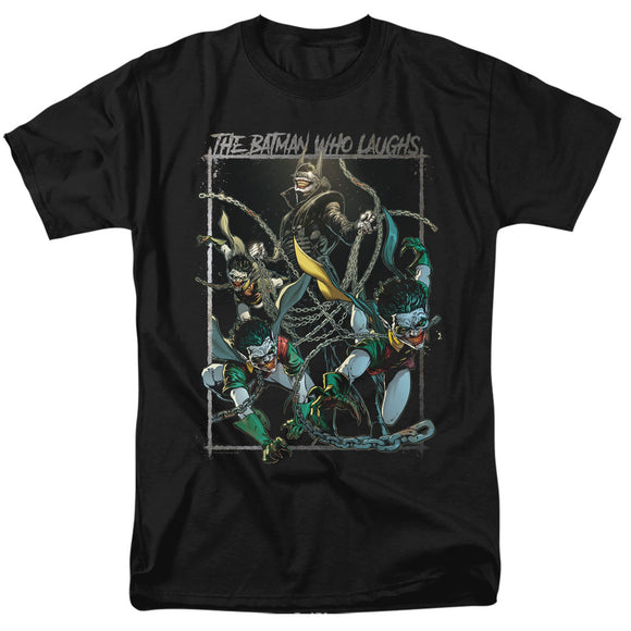 MEN'S BATMAN JOKER BATMAN WHO LAUGHS TEE