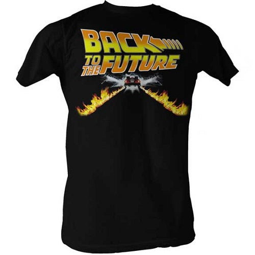 MEN'S BACK TO THE FUTURE BTF CAR LIGHTWEIGHT TEE - Blue Culture Tees