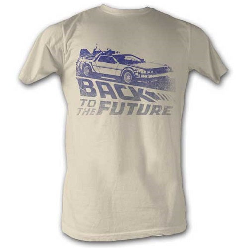 MEN'S BACK TO THE FUTURE FUTURE FADE LIGHTWEIGHT TEE - Blue Culture Tees