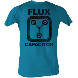 MEN'S BACK TO THE FUTURE FLUX LIGHTWEIGHT TEE - Blue Culture Tees