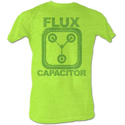 MEN'S BACK TO THE FUTURE NEON FLUX LIGHTWEIGHT TEE - Blue Culture Tees