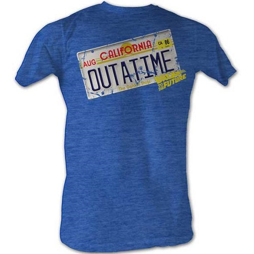 MEN'S BACK TO THE FUTURE OUTA IT LIGHTWEIGHT TEE - Blue Culture Tees