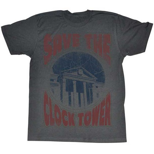 MEN'S BACK TO THE FUTURE SAVE THE DAY LIGHTWEIGHT TEE - Blue Culture Tees