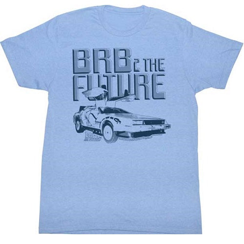 MEN'S BACK TO THE FUTURE BRB2 LIGHTWEIGHT TEE - Blue Culture Tees