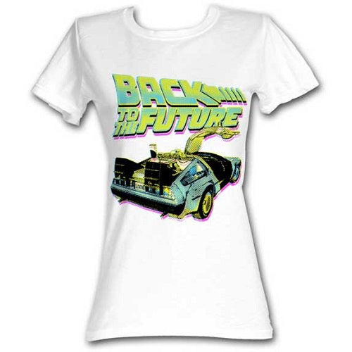 WOMEN'S BACK TO THE FUTURE BTF NEON TEE