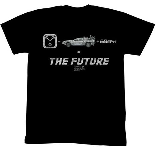 MEN'S BACK TO THE FUTURE THE FUTURE LIGHTWEIGHT TEE - Blue Culture Tees