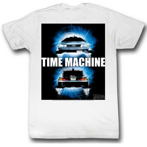 MEN'S BACK TO THE FUTURE TIME TRAVEL LIGHTWEIGHT TEE - Blue Culture Tees