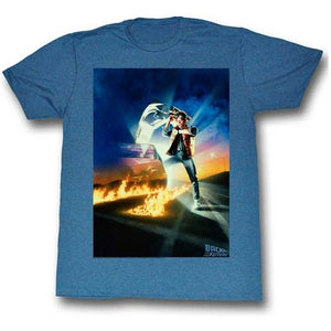 MEN'S BACK TO THE FUTURE GO GO GO LIGHTWEIGHT TEE - Blue Culture Tees