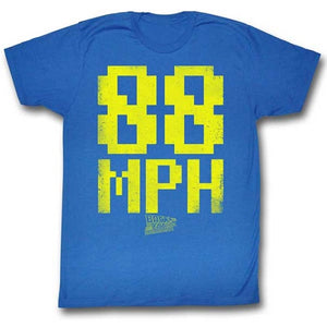 MEN'S BACK TO THE FUTURE 88MPH LIGHTWEIGHT TEE - Blue Culture Tees