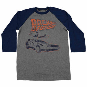 MEN'S BACK TO THE FUTURE REWORK RAGLAN TEE - Blue Culture Tees