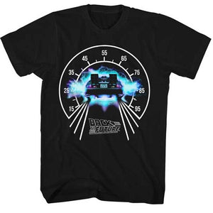 MEN'S BACK TO THE FUTURE SPEEDOMETER LIGHTWEIGHT TEE - Blue Culture Tees