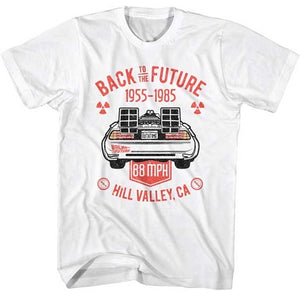 MEN'S BACK TO THE FUTURE VINTAGE DMC BACK LIGHTWEIGHT TEE - Blue Culture Tees