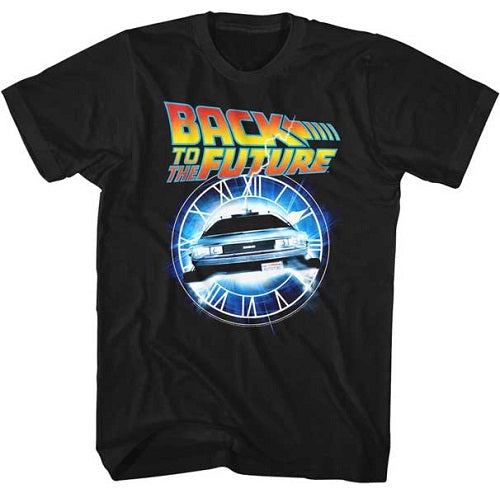 MEN'S BACK TO THE FUTURE OUT OF TIME LIGHTWEIGHT TEE - Blue Culture Tees